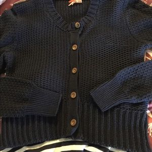 REDUCED Anthropologie cotton blend navy sweater